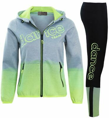 Girls Tracksuit Leggings Dance Suit Children Age 4 5 6 7 8 9 10 11 12 Years