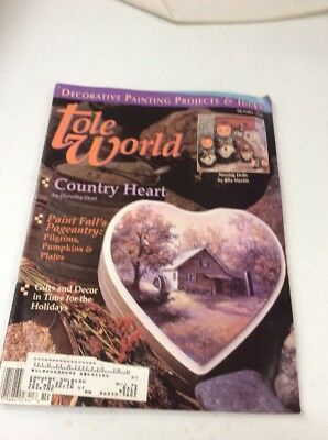vintage Tole World Magazine Patterns fine art decorative Painting October 1995