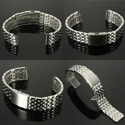 Metal Bracelet Wrist Watch Band Stainless Steel Strap Straight New 18/20/22mm