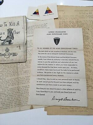 WWII U.S. Army General D. Eisenhower Farewell Letter to U.S. Troops Dated 1945