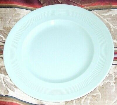 Vintage 1940s Woods Ware Utility Ware Beryl Green small plate &, Meat Plate.
