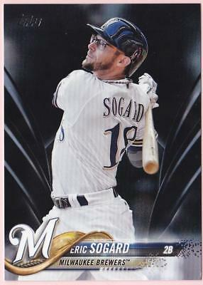Eric Sogard 2018 Topps Series 2 Black Parallel #09/67 Brewers