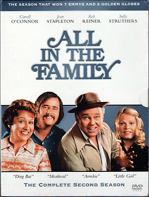ALL IN THE FAMILY Complete SECOND SEASON 2 on a 3 DVD of CLASSIC TV Show SERIES!