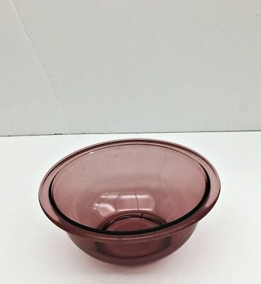 "Pyrex 1 L Cranberry 7"" Mixing Bowl #322 Vintage U.S.A. Made Glass Cook Bake Ware"