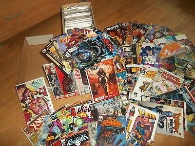 Box of Approx 210 Marvel DC Wildstorm comics Lot Bundle