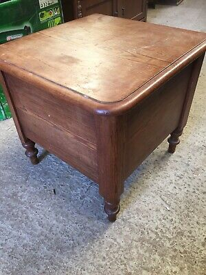 Antique Vintage Old Pine Commode Table Potty Loo China    2/4/R