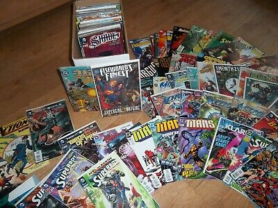 Box of Approx 178 DC Comics superman bat-man Hawkman and more Lot Bundle