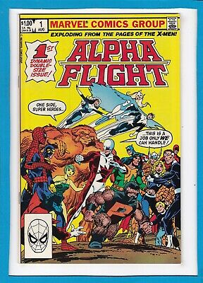 ALPHA FLIGHT #1_AUG 1983_NM MINUS_1st DYNAMIC DOUBLE-SIZE ISSUE_X-MEN_SPIDER-MAN