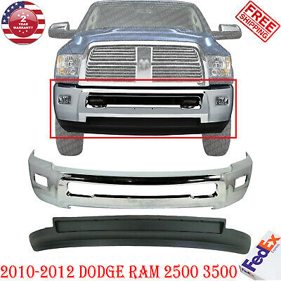 For 2010-12 DODGE PICKUP RAM 2500 3500 FRONT BUMPER BAR GRAY W//O FOG LAMP HOLE