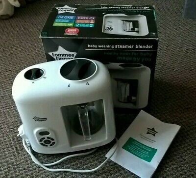 Tommee Tippee Baby Weaning Prep Steamer Blender Machine Boxed White Used Once