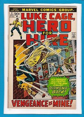 """Luke Cage, Hero For Hire #2_August 1972_Vg/f_""""the Man Called Diamond-Back""""!"""