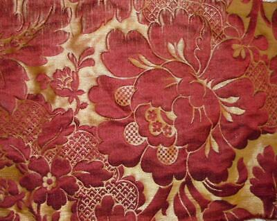 BEAUTIFUL 19th CENTURY FRENCH SILK BROCADE LARGE SCALE FLORALS 227.