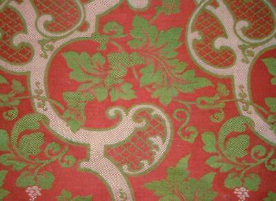 BEAUTIFUL MID 19th CENTURY HEAVY SILK BROCADE, SPITALFIELDS, LYON 228