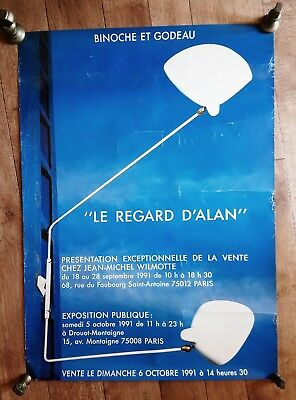 Original LE REGARD D'ALAN Poster 1991 French Modernist Design Serge MOUILLE RARE