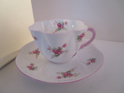 Vintage Shelley Fine Bone China England Dainty Bridal Rose Tea Cup & Saucer