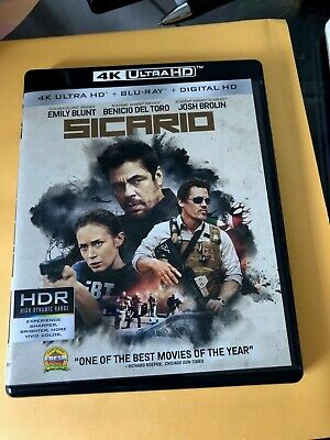 Sicario (4K Ultra HD & Blu-ray) Emily Blunt, Del Toro, Josh Brolin - No Digital
