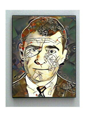 Framed Abstract Rod Serling The Twilight Zone 8.5X11 Print Lim Ed w/signed COA