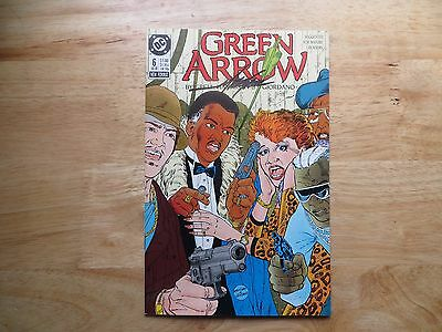 1988 Vintage Dc Comics Green Arrow # 6 Signed Mike Grell, With Poa