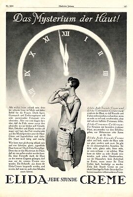 Elida & The mystery of the skin XL 1927 German ad dermatologist time advertising
