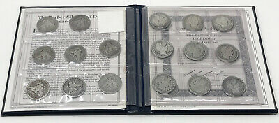Lot 24 US Barber Silver Half Dollars 90% Silver Year Date Set 1892-1915 SCC