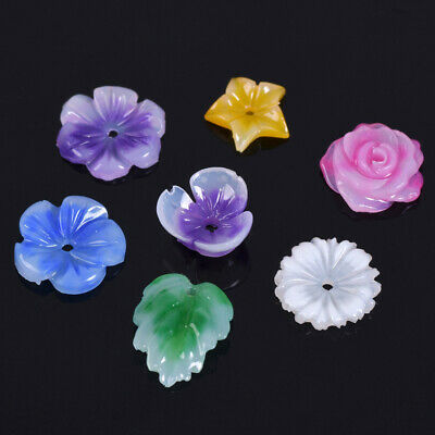 20pcs 10~12mm Resin Flower/Leaf/Star Acrylic Charms Loose Pendants Spacer Beads