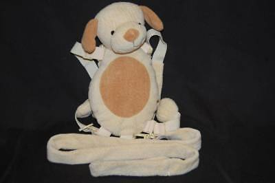 """Gold Bug Child Harness Backpack Brown Dog Safety Plush Stuffed Toy 12"""""""