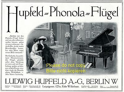 Advertising Collectibles Shop For Cheap Self Playing Piano Phonola German Ad 1907 Hupfeld Leipzig Richard Wagner
