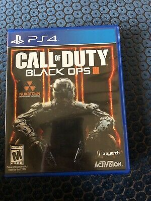 Call of Duty: Black Ops III (SONY PlayStation 4,2015).original case. Rated M