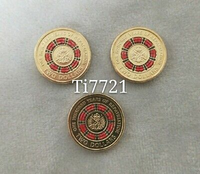 3× UNC 2019 One hundred years of Repatriation $2 coin - Removed From Mint Bag