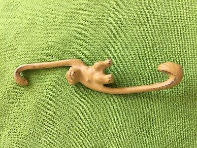 Swinging / Hang Monkey Hooks - Cast Iron - Rare With Original Paint! Beauty!!!!
