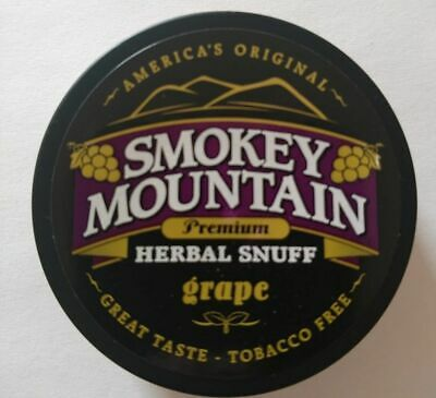 Smokey Mountain Snuff - Grape Chew-Tobacco & Nic Free 6 pack