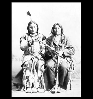 1884 Chief Sitting Bull PHOTO with One Bull,St Paul, Battle of Little Bighorn