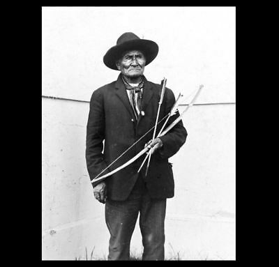1904 GERONIMO St Louis Worlds Fair PHOTO Apache Indian Boy Chief Bow and Arrows