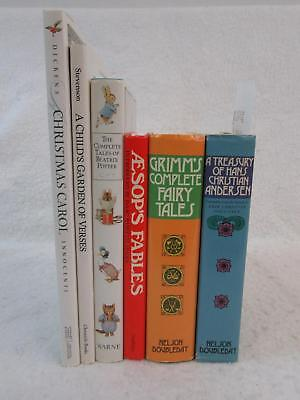 Lot of 6 Children's Classics AESOP GRIMM ANDERSON BEATRIC POTTER GARDEN OF VERSE