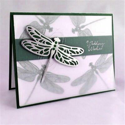 Dragonfly Stamps and Dies Clear Stamps Metal Cutting Dies for Scrapbooking