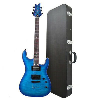 Artist GNOSIS6 Blue Cloud Super ST Style Electric Guitar + Black Case - New