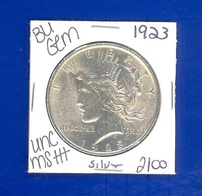 1923 P Bu Gem Peace Silver Dollar Unc Ms+ Genuine U.s. Mint Rare Coin 2100
