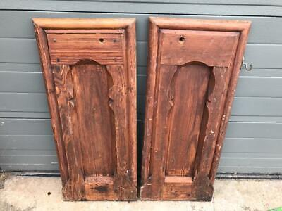 Pair of Antique Pitch Pine Pew Ends