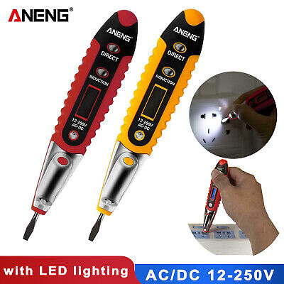 AC/DC Non-Contact LCD Electric Test Pen Voltage Digital Detector Tester 12~250V