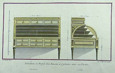 1775 Lalonde, Richard de - Ebenisterie Neo-Classical DESK -  Large folio