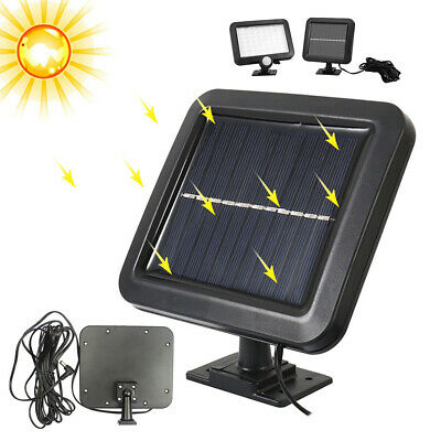 56 LED Flood Lamp Solar Powered PIR Motion Sensor Outdoor Garden Light Security