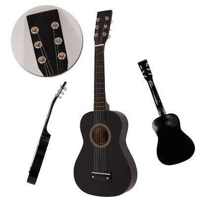 """New 25"""" Children Beginners Acoustic Guitar with Pick Kids Black"""