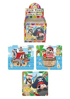 Kids pirate Themed Jigsaw Puzzles assorted bulk wholesale party loot bags gifts