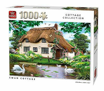 1000 Piece King Cottage Collection Jigsaw Puzzle - Swan Cottage 55861