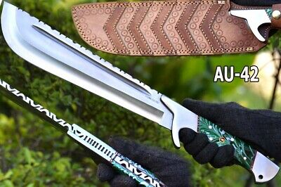 "18.2""aruma Custom 52100 Bearing Steel Matches Survival Bush Craft Bowie Kni Au42"
