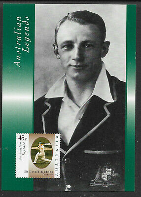 AUSTRALIA 1997 SIR DON BRADMAN CRICKET LEGEND Portrait POSTCARD
