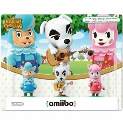 Amiibo Animal Crossing 3 Pack Reese/K.K. Slider/Cyrus New and Sealed