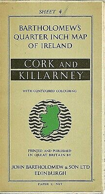 Bartholomews quarter-inch Map of Ireland - 4 CORK & KILLARNEY. 1955