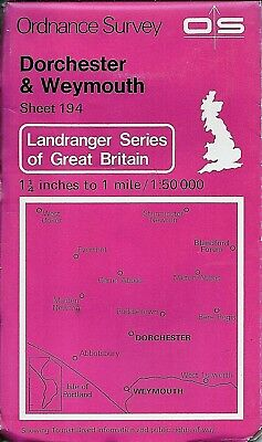 Ordnance Survey Landranger Map No 194 DORCHESTER & WEYMOUTH - 1982