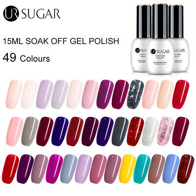 UR SUGAR 15ml Pure Tips Gel Polish Glitter Sequins Soak Off Nail Gel Varnish